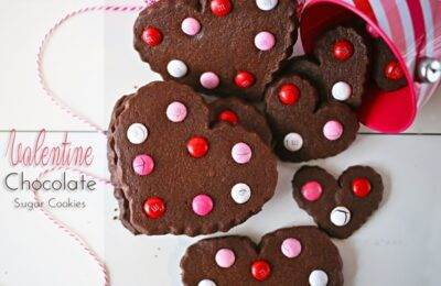 Valentine Chocolate Sugar Cookies