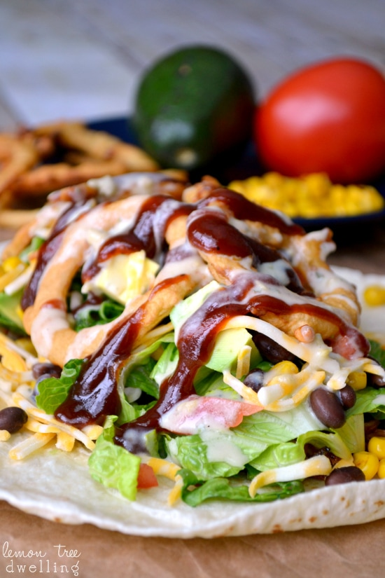 BBQ Ranch Chicken Wrap 1