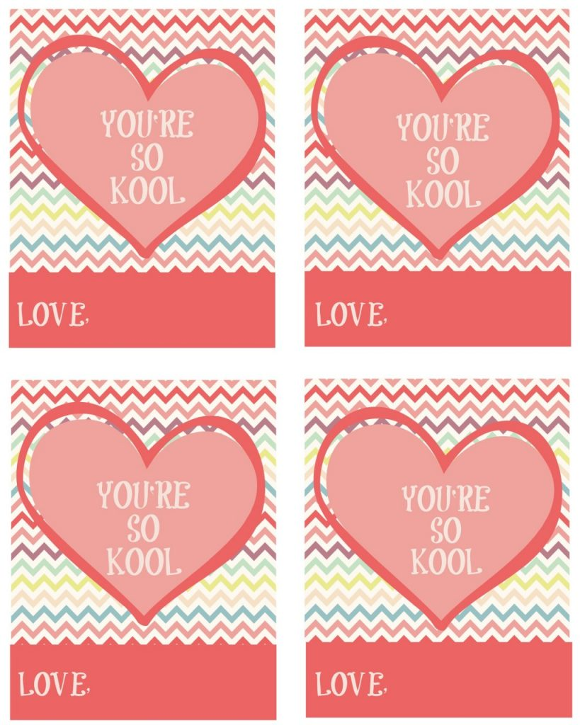 Kool Aid Printable Valentine Kool-aid Valentine