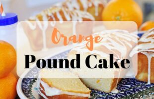 Orange Pound Cake Mini Loaves ~ this moist pound cake tastes like a burst of sunshine! | orsoshesays.com #orangepoundcake #poundcake #dessert #recipe