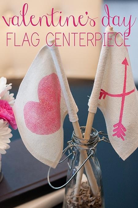 Valentine's-Day-Flag-Centerpiece