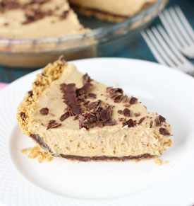 no bake peanut butter chocolate pie