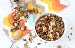 Peanut Butter Chocolate Banana Chip Granola (she: Zainab)