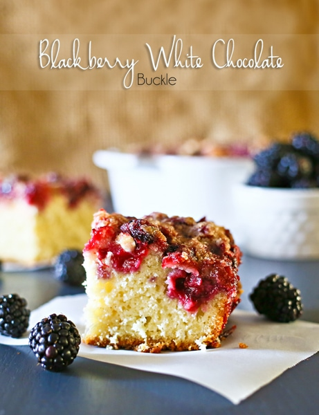Blackberry White Chocolate Buckle from Kleinworth & Co.