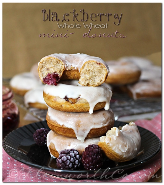 Blackberry Whole Wheat Mini Donuts from Kleinworth & Co.