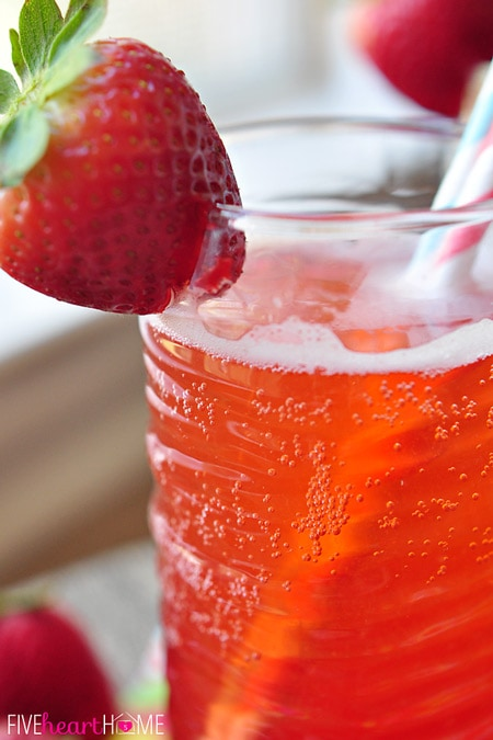 Homemade Strawberry Syrup {for} Strawberry Soda ~ this simple-to-make ...
