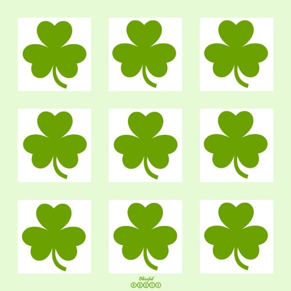 Light Green Shamrocks