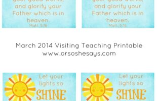 March 2014 Visiting Teaching Message Printable