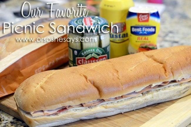 Our Favorite Picnic Sandwich www.orsoshesays.com