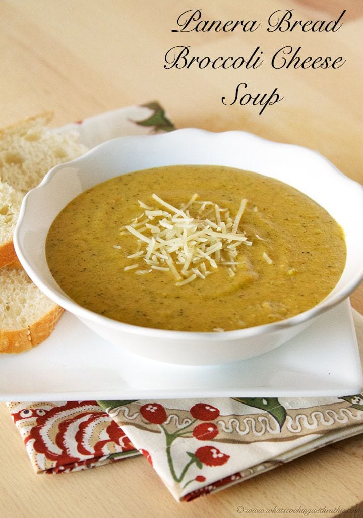 Copycat Panera Bread Broccoli Cheese Soup (she: Ruthie