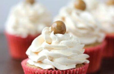caramel brulee latte cupcakes