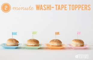 washi tape toppers