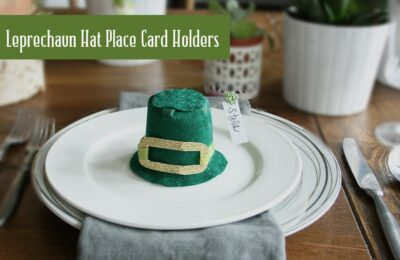 leprechaun hat place card holder