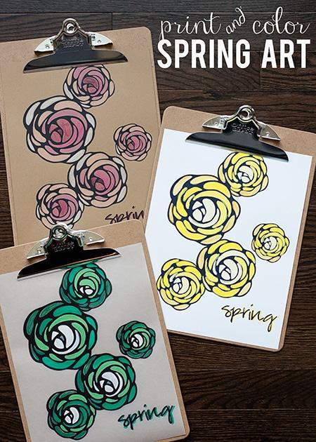 free customizable spring printable