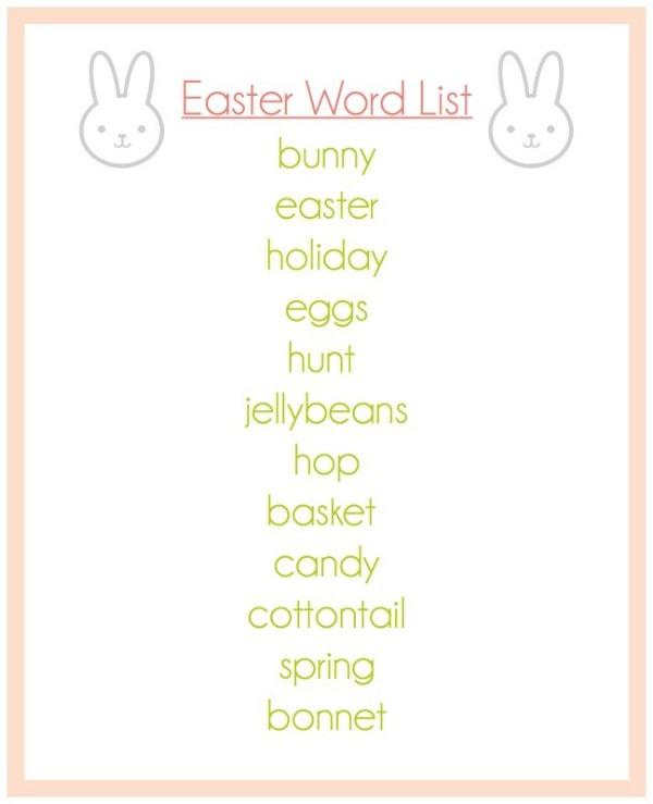 home images easter word list easter word list facebook twitter google+ ...