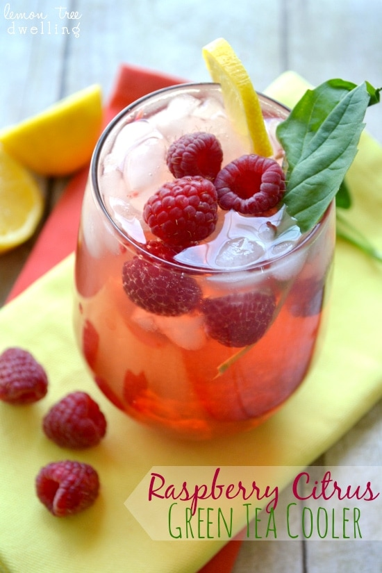 Raspberry Citrus Green Tea Cooler 1