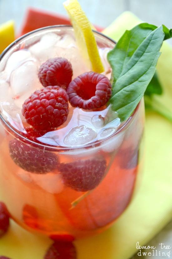 Raspberry Citrus Green Tea Cooler 2