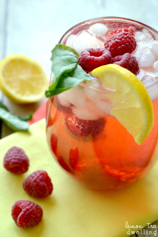 Raspberry Citrus Green Tea Cooler 5