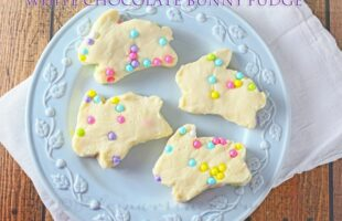 White Chocolate Bunny Fudge