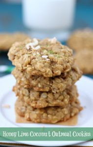 honey-lime-coconut-oatmeal-cookies