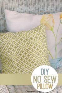 DIY No Sew Pillow (She: Carmella)