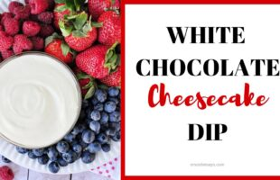 White Chocolate Cheesecake Fruit Dip ~ melted white chocolate, blended with cream cheese and fresh whipped cream, makes an effortless, delicious fruit dip | orsoshesays.com