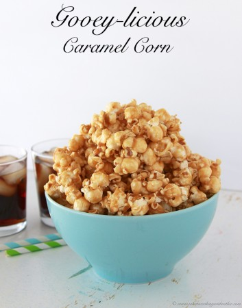 Gooey-licious Caramel Corn by www.whatscookingwithruthie.com