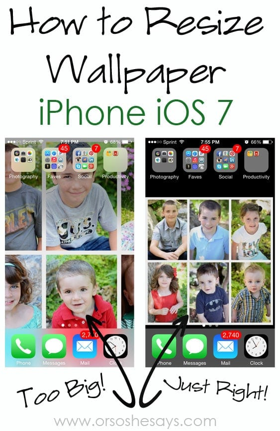 how to resize wallpaper on iphone ios 7 or so she says