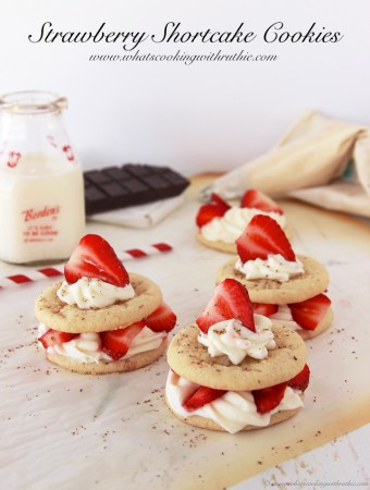 Strawberry Shortcake Cookies by www.whatscookingwithruthie.com