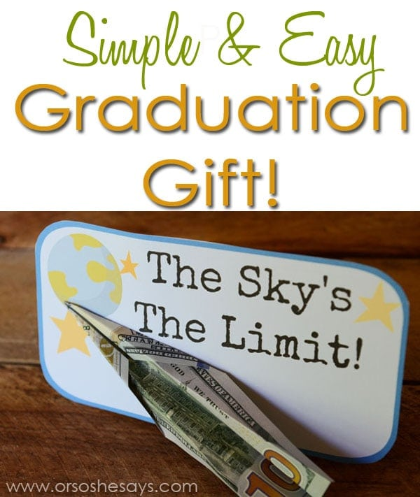 Simple and Easy Graduation Gift