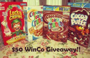 Save Big and Win Big ~ $50 WinCo Giveaway!!