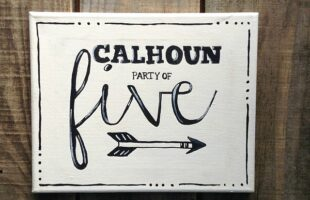 DIY Painted Family Name Art (She: Carmella)