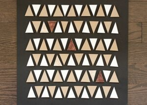 DIY Geometric Wall Art Using Paper Scraps (she: Anne)