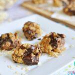 No-Bake Peanut Butter Chocolate Chunk Cookies | FiveHeartHome.com for OneSheTwoShe.com
