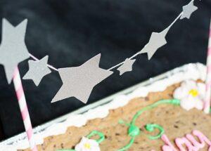 Glitter Star Cake Topper (she: Anne)
