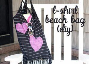T-Shirt Beach Bag DIY… a No-Cost Summer Carryall (she: Anne)