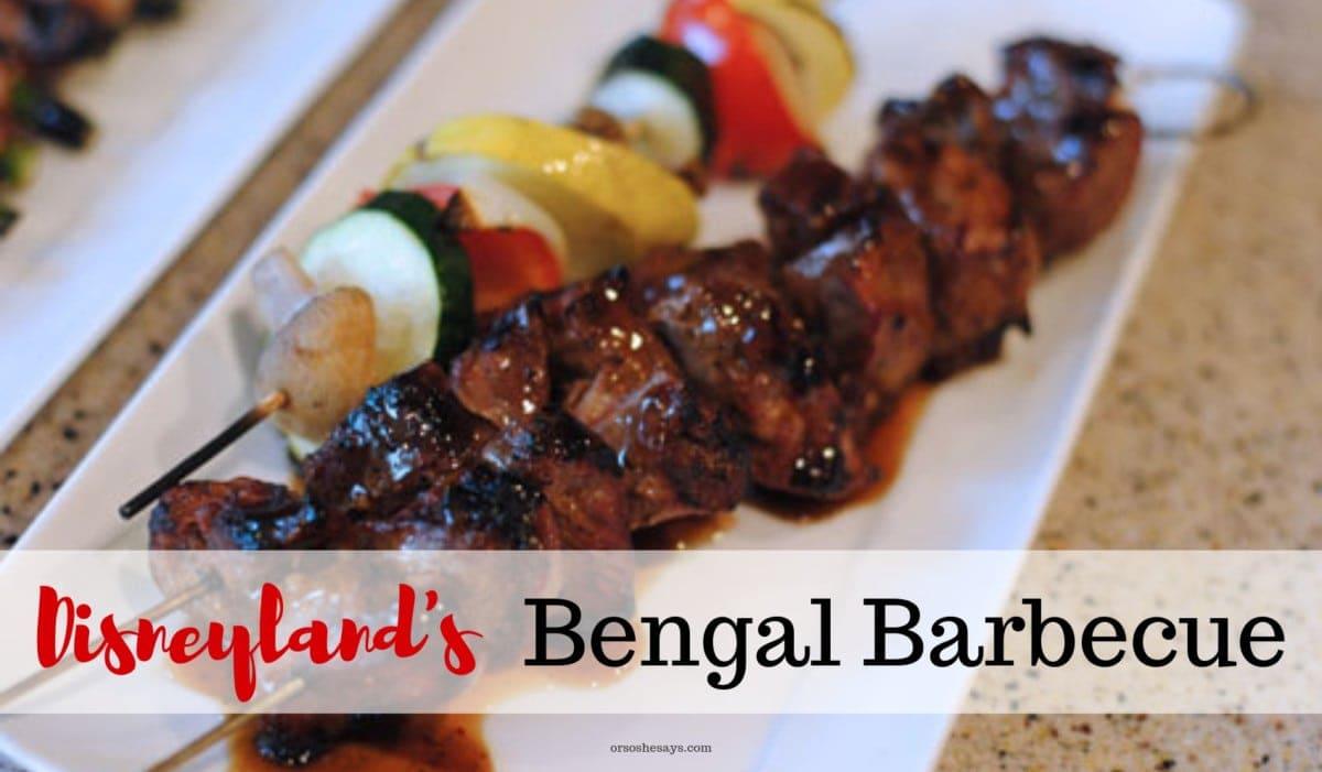 Disneyland's Bengal Barbecue Recipes roundup on www.orsoshesays.com #Disneyland #Disneylandrecipe #recipes #BBQ