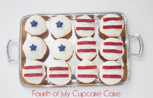Super Easy Fourth of July Flag Cake (she: Melissa)