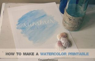 DIY Watercolor Printable (she: Carmella)
