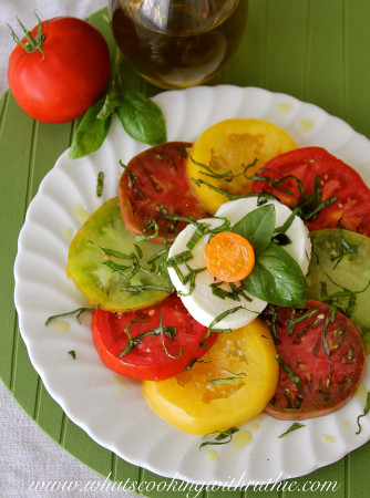 Caprese Salad by www.cookingwithruthie.com