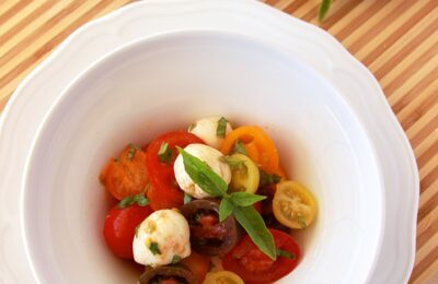 Heirloom Tomato Caprese Salad by www.cookingwithruthie.com