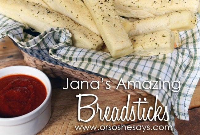 Jana's Amazing Breadsticks