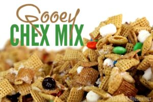 Gooey Golden Grahams & Chex Mix Recipe… Warning- Highly Addicting! (she: Jamie)