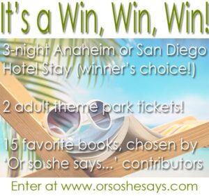 15 Favorite Books & California Vacation Giveaway!!