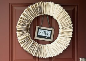Back-to-School Book Page Wreath (she: Anne)