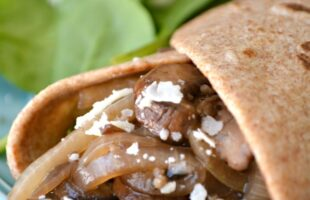 Mushroom Soft Tacos with Parmesan Cheese (she: Cathy)