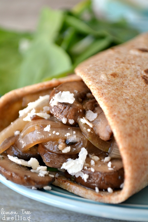 Mushroom Soft Tacos -  a quick, easy, healthy family dinner!
