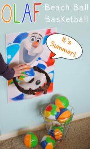 Olaf Beach Ball Game and Printable (she: Adelle)