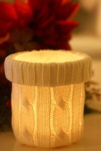 Candle Cozy- Upcycle Old Sweaters (she: Maria)