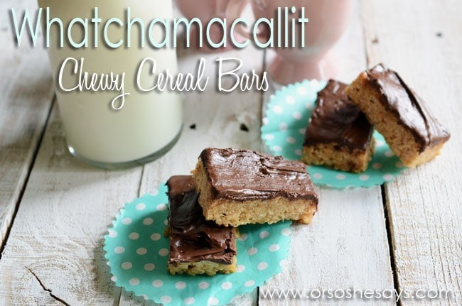 Whatchamacallit Chewy Cereal Bars